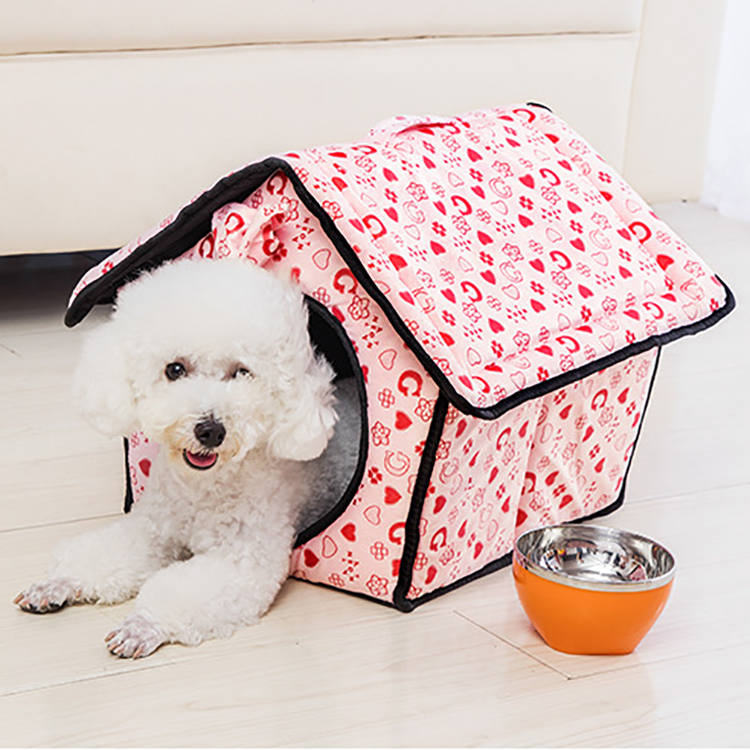 New Fashion Wholesale Square Fancy Cat Dog Pet House Bed