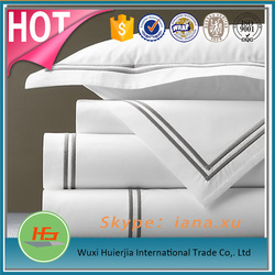 White Color Wholesale Hotel Bedding Embroidery Single Sheets