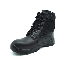 Ex works price black steel toe Military shoes for army