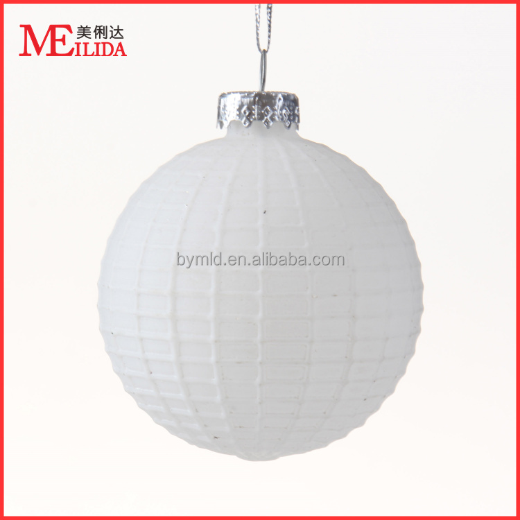 Frosted christmas glass ball ornaments bulk for hanging