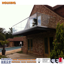 glass balustrades_high quality glass railing hardware_glazed balustrade