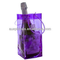 Food grade pvc ice bag whisky port wine cooler bag
