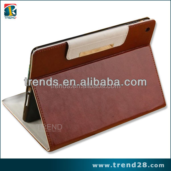 new china products for sale folding design wallet leather case for ipad 5 air