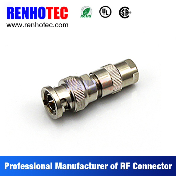 Straight BNC Male Connector For Coaxial Cable RG58 RG59 RG6 RG174
