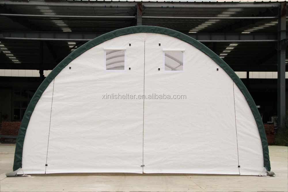 Steel Boat Shelter : R pvc fabric steel frame boat storage shed shelter