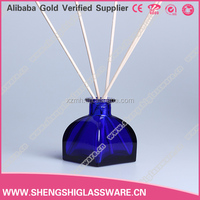 150ml nice shaped cobalt blue reed diffuser glass bottle with rubber cork