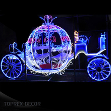 LED motif light pumpkin cinderella carriage wedding