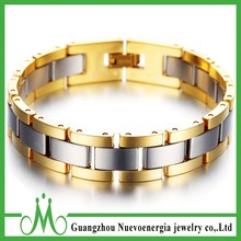 Gold Edge Tungsten Steel Men Magnetic Energy Bracelet