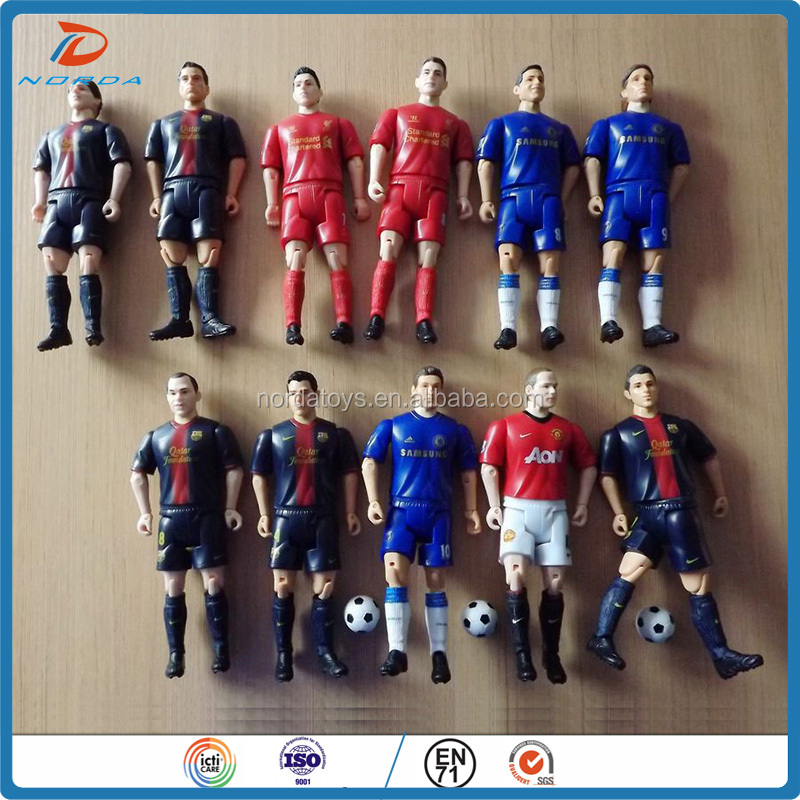 Wholesale customized World famous miniature football players action figure toys