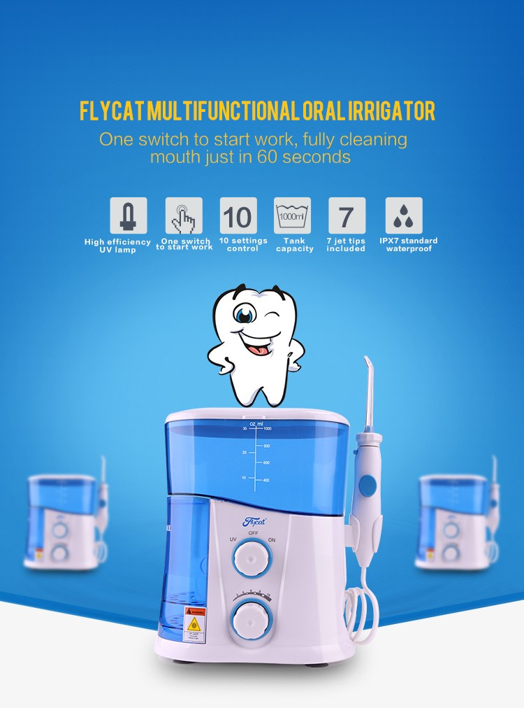 water teeth cleaning dental irrigator hydro flosser whith UV light
