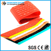 KINDS OF COLOR PORTABLE COMPACTS SIZE WATERTPROOF SILICONE FLEXIBLE KEYBOARD