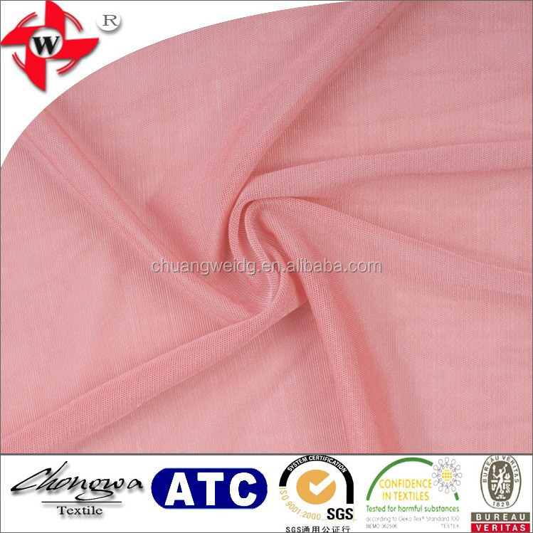 nylon spandex 4 way stretch sheer mesh fabric for dress lining, wedding