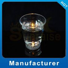 Customized Logo led flashing shot glass/shaped shot glass Party Supply