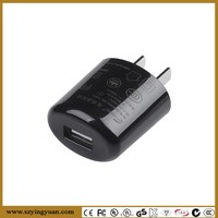 black color 5v 1a usb Wall Charger for Cell phone power adapter