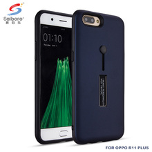 Free sample kickstand pc tpu protective mobile phone case cover for oppo r11 plus with ring holder
