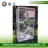 QQ Pet Factory Wholesale Metal Zoo Animal Cages & Big Cat Cage With Wheels