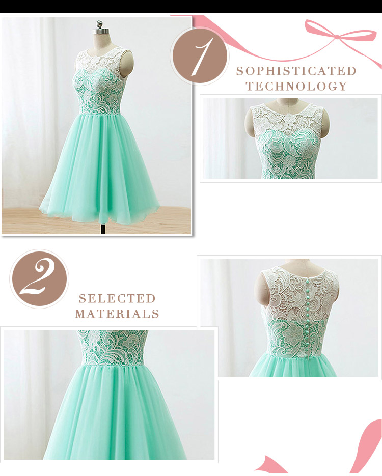 2017 Short A-Line Custom Lace African Prom Dress