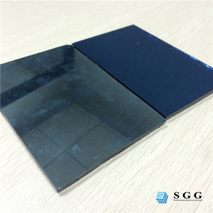 4mm one way reflective blue glass sheet price