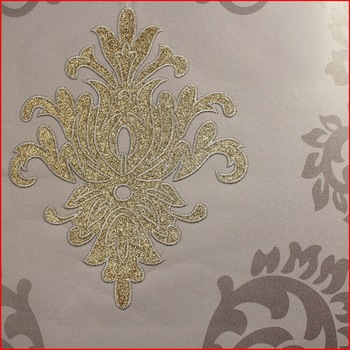 Damask Design Popular Embroidery Wallpaper Wall Covering