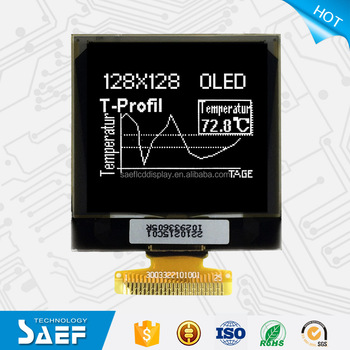 China Manufacturer OLED 128x128 White Graphic COG LCD Display