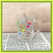 beautiful Turkish glass tea cup,shot glass mug with handle for drinking,spirit glasses