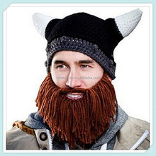fashion models bearded Viking hat autumn winter hat wool cap + tassel beard pointed men hats