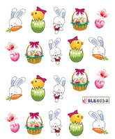 Easter nail art thin health waterproof cartoon holiday cute bunny stickers