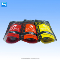 printing packaging material supplier wholesale custom plastic resealable stand up pouch with zipper