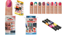 Hot Design Nail Art Pens (2 Colors in one) 6 Basic Beauty Colors Polish Create Decorate Brush For Polish Nail Tools