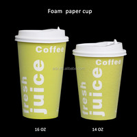 Disposable Foam Christmas Paper Cup for Cafe ECO coffee cup