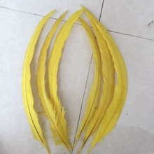 35-40cm bulk dyed rooster tail feathers for hair extensions cheap