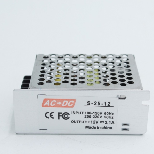 switching powersupply 110-220v 12v 2.1A 25w Enclosed Low Profile Single Output Switching Power Supply