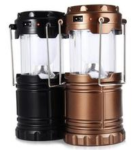 Lightweight Water Resistant 6 LED Solar Camping Lantern Lights Lamp Outdoor