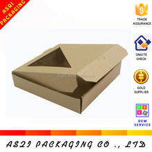 2014 custom high quality PVC clear window pizza boxes made in China