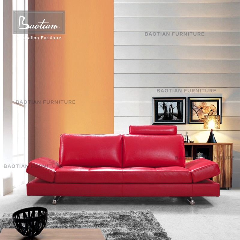 Baotian heated model modern leather sofa furniture living room sofa set