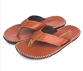 Fashion PU Leather Flip Flop Slipper Handmade Men Anti Slip Sandal Beach Slipper