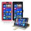 PU Leather Mobile Phone Case with Full Open Window for Nokia Lumia 1520