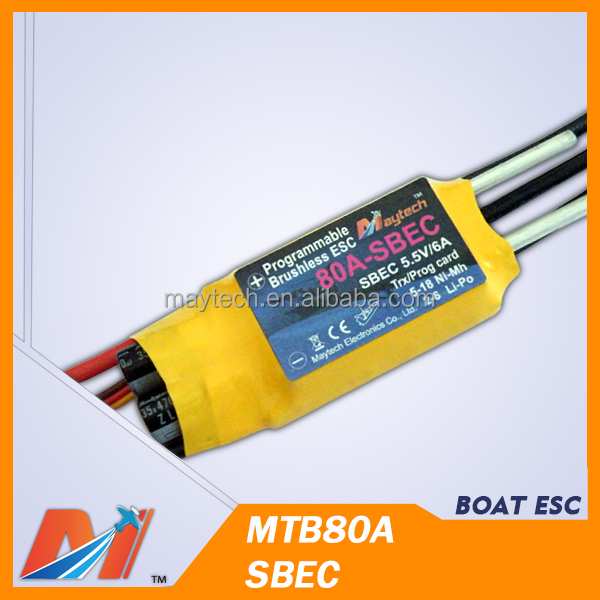 Maytech 80A 6s TigerShack Series ESCs for gas power rc boat