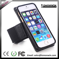 Multifunction Black Magnet Sport GYM Leather Phone Running Jogging Case Cover For iPhone 5 5S