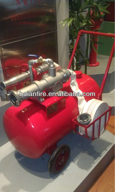 Portable foam fire extinguisher, portable foam unit, portable foam fire extinguisher, portable foam monitor, foam trolley