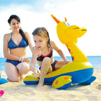 Inflatable Dinosaur Rider On Beach Water Toys Animal Rider Float For Kids
