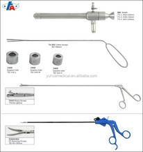 Proctoscope set with rectoscope instruments