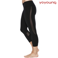 (OEM/ODM Factory)hot sexy nude women yoga tights fitness custom compression pants black