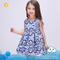 Wholesale 2016 fancy baby frock design pictures summer sleeveless fashion kids party wear brand baby girls dresses new style