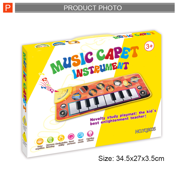 Top quality musical toy baby piano music play mats carpet for sale