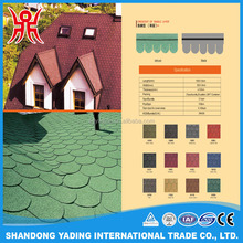 Color mahogany crescent of single layer round asphalt shingle