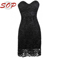 Summer latest design fashion sexy off- shoulder women lace dress 2013