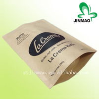 Factory best price laminated food packaging different size kraft paper coffee bag