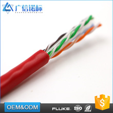 OEM ODM service 23AWG wire lan network 4 pairs CAT6 UTP copper cable