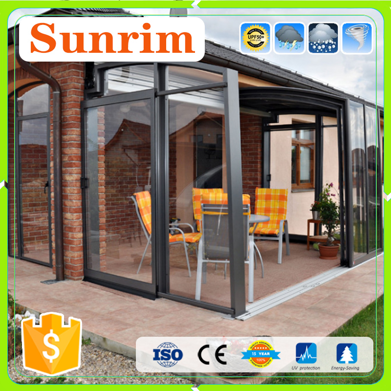 Aluminum frame polycarbonate plastic sunroom lowes patio enclosure